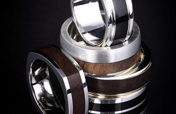 Wood and buffalo horn sleeve rings
