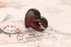Laminated wood pendant