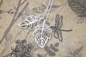 Pierced leaves pendant