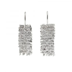 Textured sterling silver