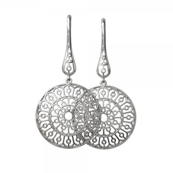 Rose window earrings