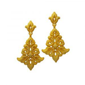 Yellow Damask earrings