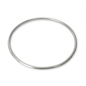 Argentium silver bangle